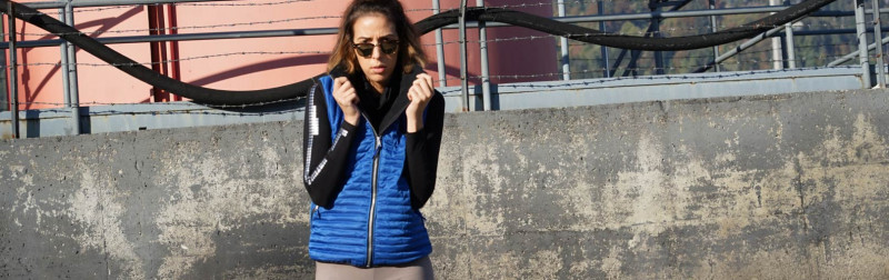 "Steppweste ""Electric Blue"" - bobs fashion & service"