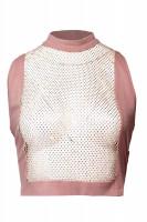 "croptop ""rosé mesh"""