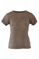 "T-shirt ""stretch leather"" Lady"