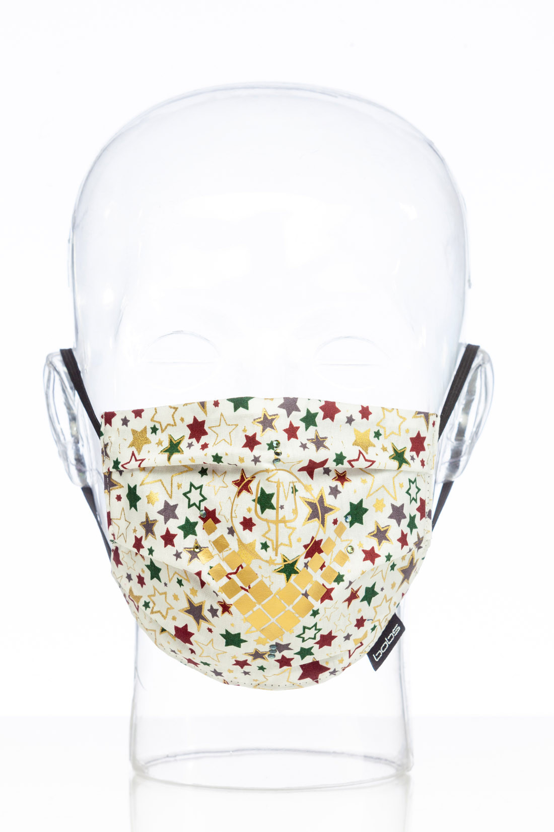 "Facemask ""Christmas white Luxury"""