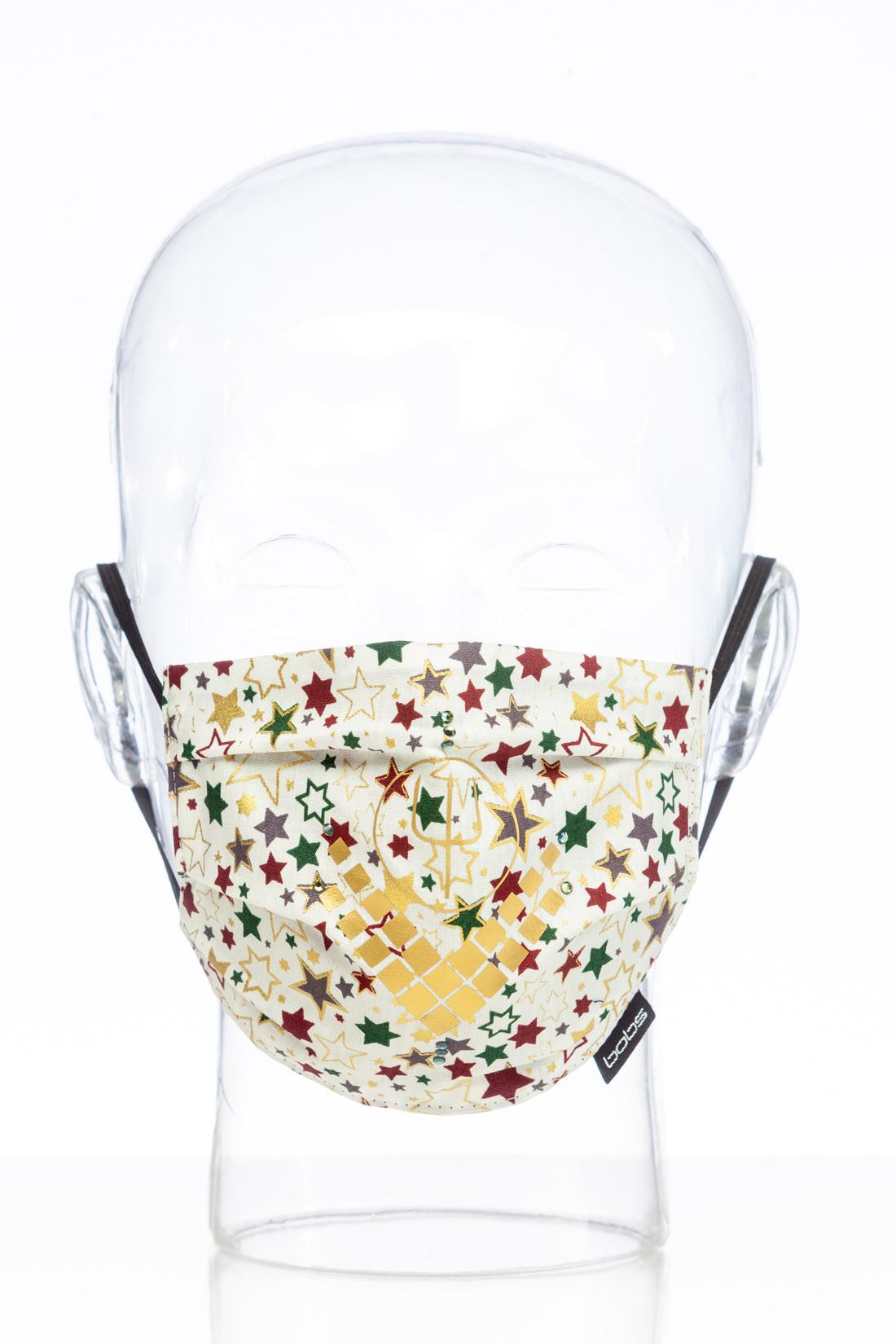 "Facemask ""Christmas white Luxury"""