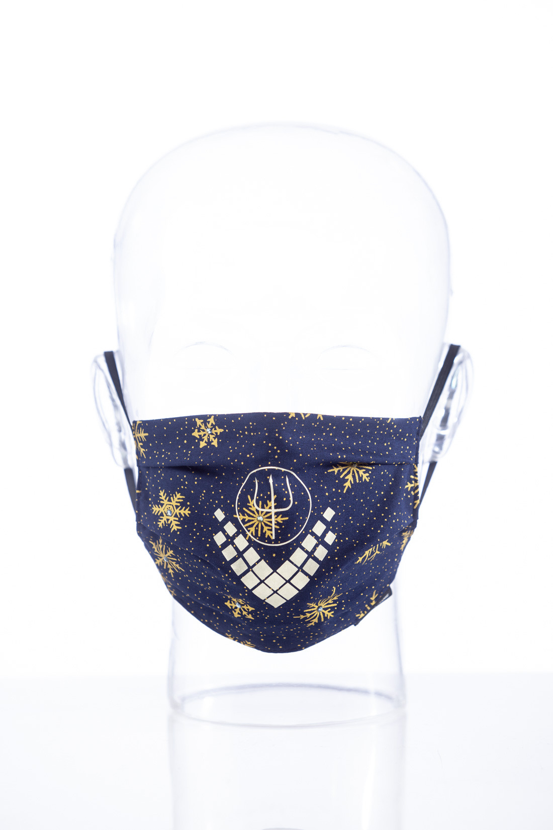 "Facemask ""Christmas blue Luxury"""
